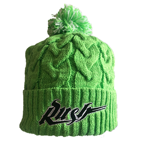 NE- Womens Rush Lime Cozy Knit Pom Toque