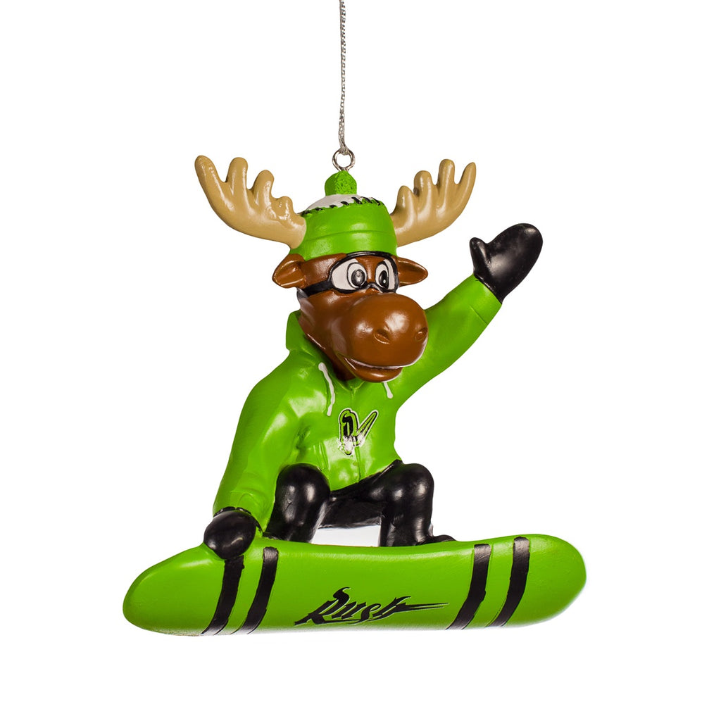 Snowboarding Moose Ornament
