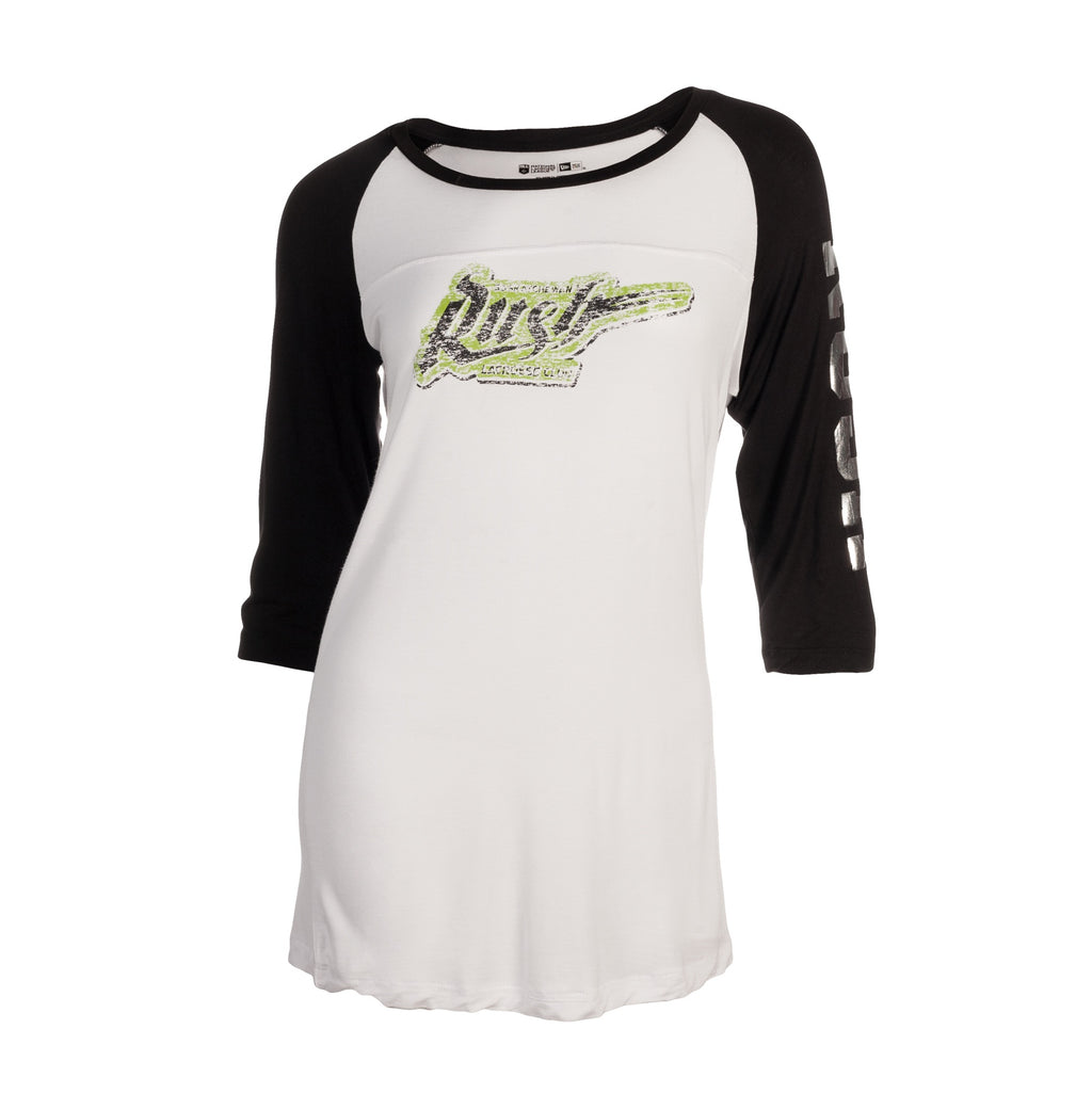 5th & O - Womens Fade & Foil 3/4 Slv Raglan T