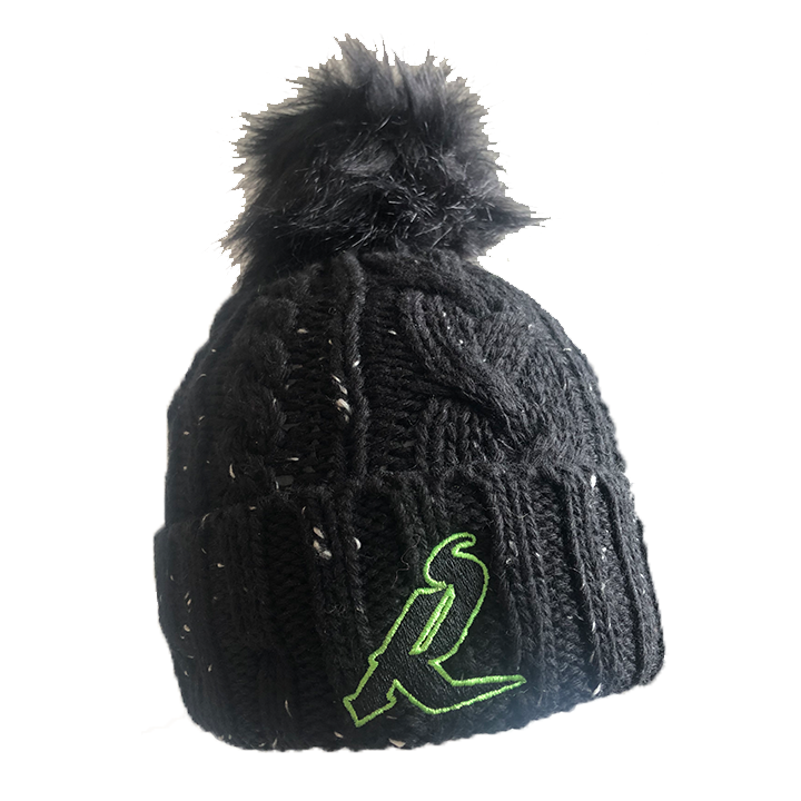 NE- Womens Knit Fuzzy Pom Toque