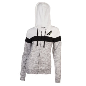 5th & O - Womens Space Dye FZ Hoody Blk