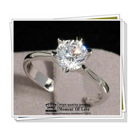 female diamond wedding in silver vintage set item rings sterling jewelry simulated luxury ring