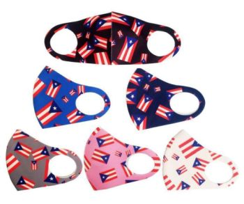 PUERTO RICO FLAG FACE MASK