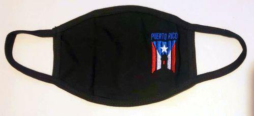 Embroidered Garita Flag Face Mask W/ Micro Filter - Puerto Rican Pride