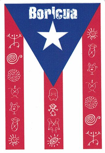 Boricua Flag Taino Symbol Decal