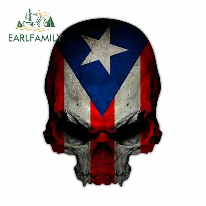 Skull Flag Car Decal