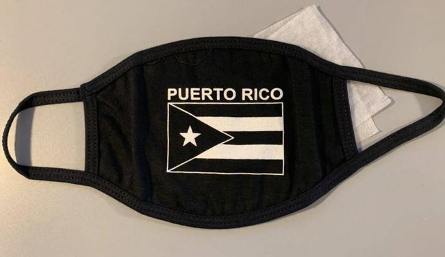 Black Flag Face Mask W/ Micro Filter - Puerto Rican Pride