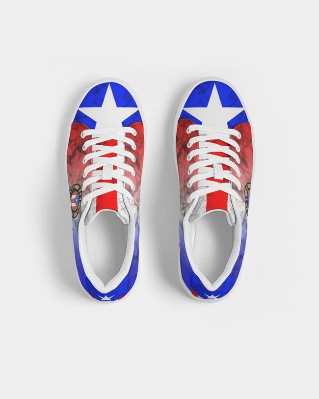 Made In PR Women's Faux-Leather Sneaker - Puerto Rican Pride