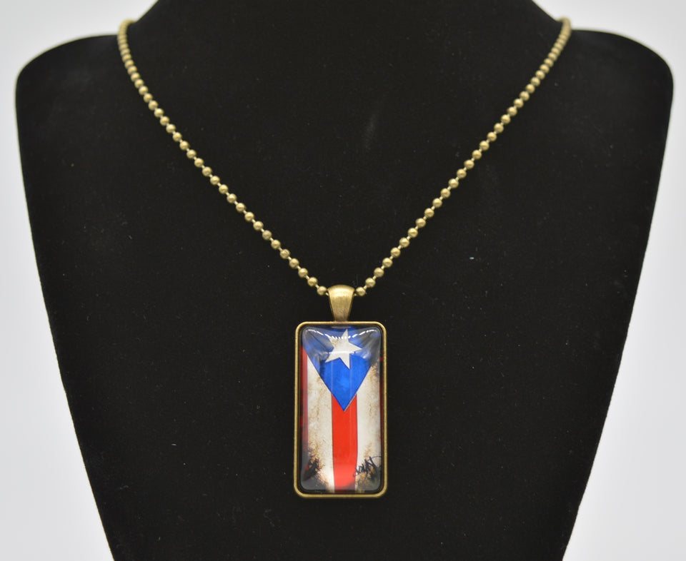 Men's Ball Chain Flag Necklace