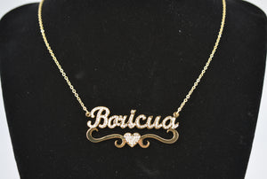 Boricua Necklace Studded 17.5""