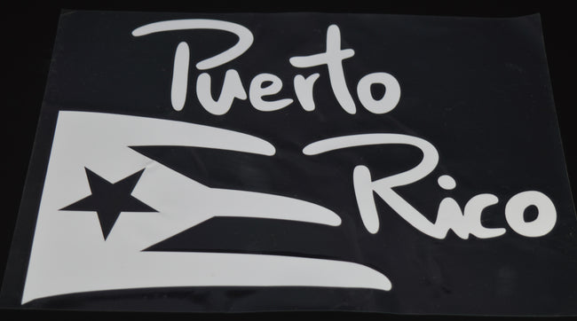 Puerto Rico Vinyl Decal Flag