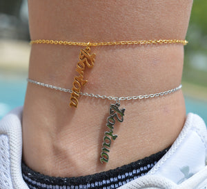 Boricua Dangle Anklet (Gold or Silver)