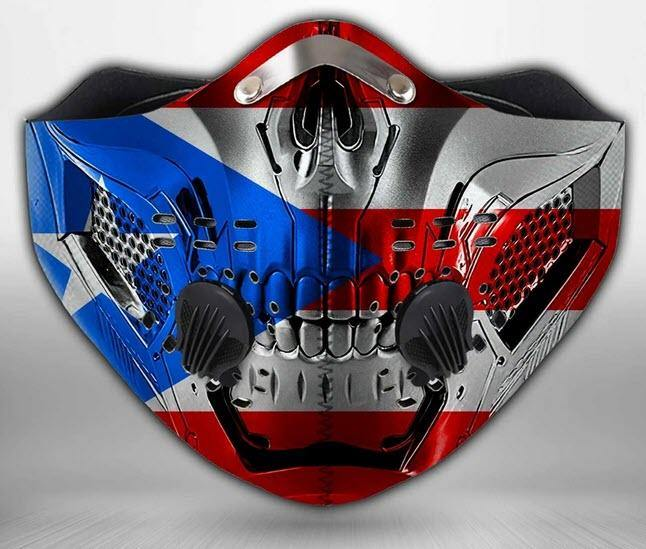 4 - GRIMM FACE Face Mask - High Quality - Puerto Rican Pride