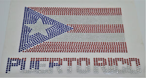 Iron On transfer - Puerto Rico + Flag