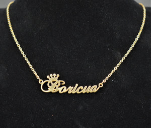Boricua Necklace - Gold