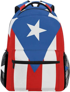 Puerto Rico Flag School Book Bag Travel/Hiking Daypack