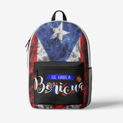 Colorful Boricua Trendy Backpack