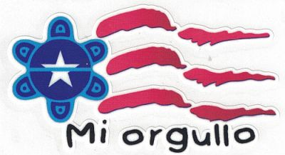 SUN Mi Orgullo Flag Decal