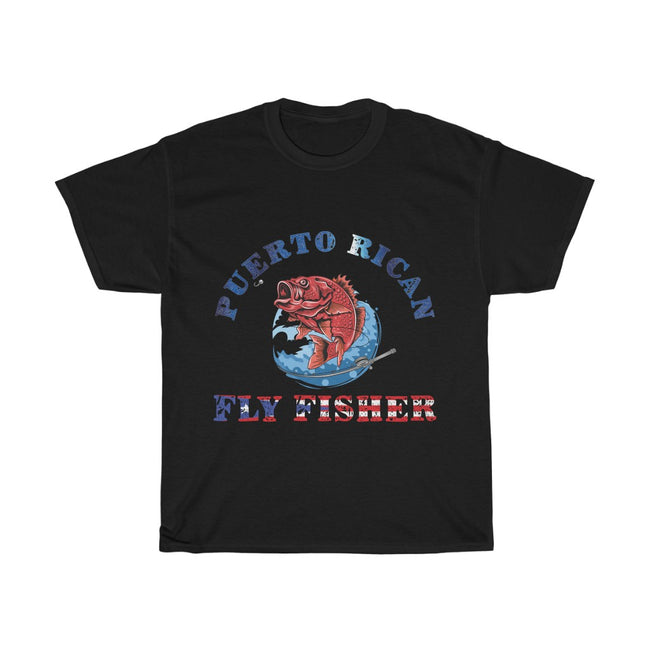 Puerto Rican Fly Fisher - Unisex Heavy Cotton Tee
