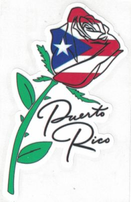 Puerto Rico Rose Decal