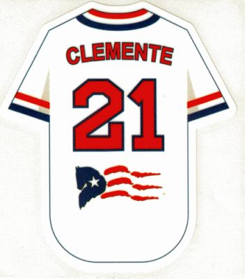 Clemente 21 Flag Decal