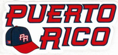 Puerto Rico Baseball Hat Decal