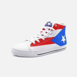 FLAG Unisex High Top Canvas Shoes