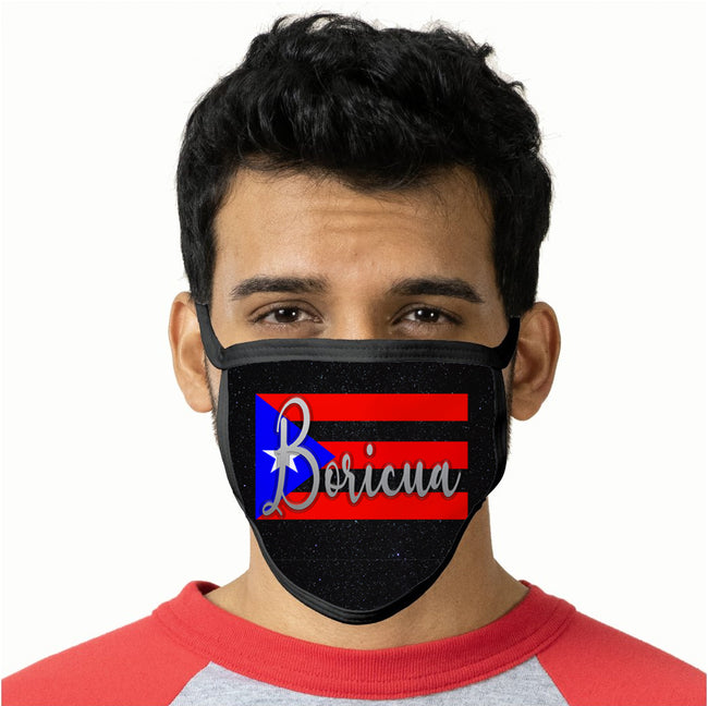 Boricua Flag Face Mask