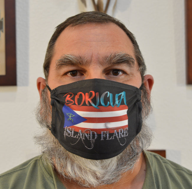 BORICUA Island Flare Adjustable Face Mask