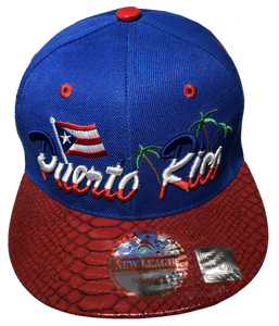 Puerto Rico Flag/Palm Baseball Hat -2
