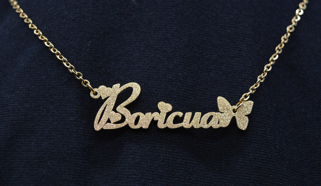 Angel Dust Boricua Necklace (Gold or Silver)