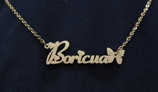 Angel Dust Boricua Necklace (Gold or Silver) - Puerto Rican Pride