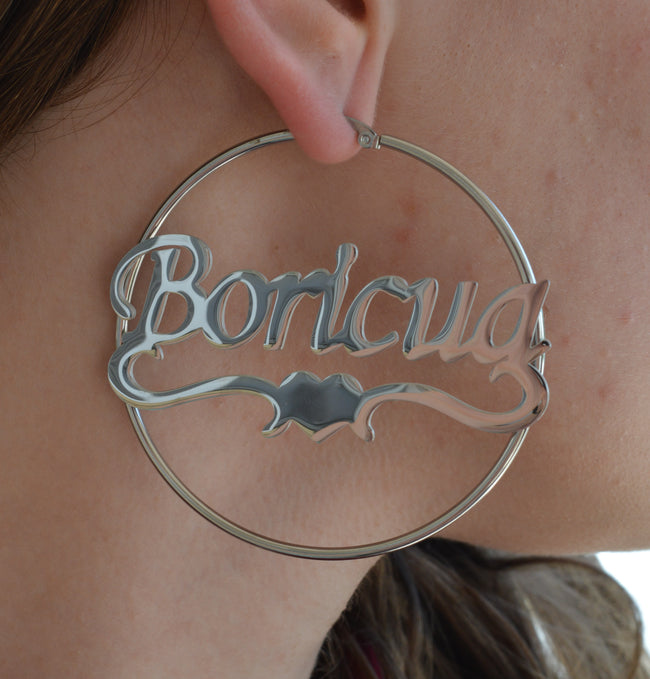 "Jumbo Boricua Hoop Earrings (2.5"")"