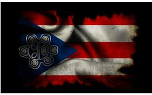 Flag Decal with Taino Symbol