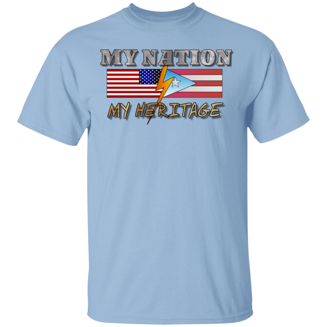 MY Nation MY Heritage 5.3 oz. T-Shirt - Puerto Rican Pride