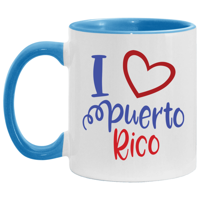 I Love PR 11OZ Accent Mug