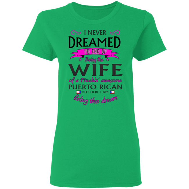 Wife of Awesome PR 5.3 oz. T-Shirt - Puerto Rican Pride