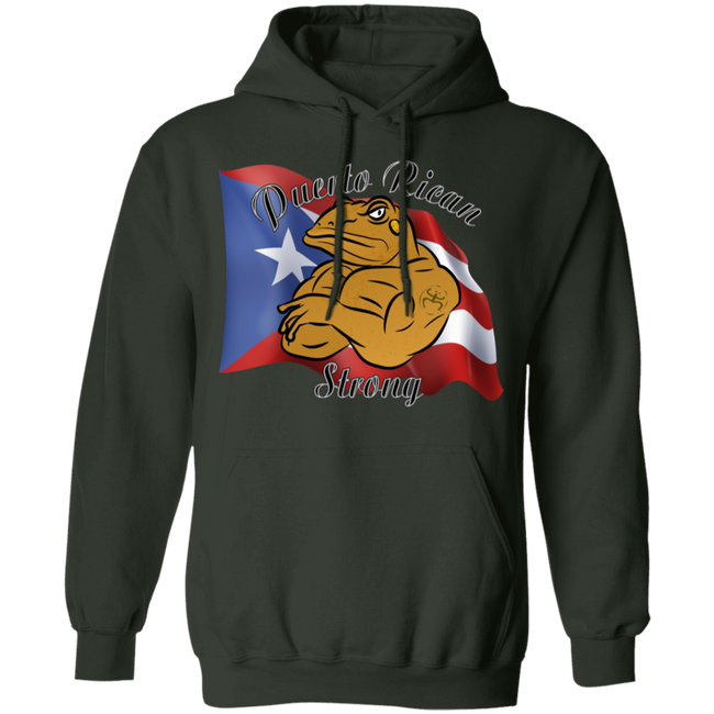 Coqui PR Strong Pullover Hoodie - Puerto Rican Pride