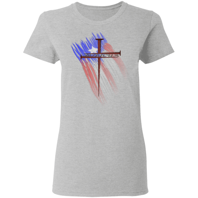 BORICUA CROSS Ladies' 5.3 oz. T-Shirt
