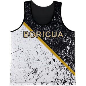 Boricua Black White Tank Top