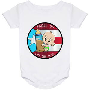 Raised on cafe 24 Month Onesie