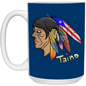 TAINO WARRIOR CHIEF 15 oz. White Mug