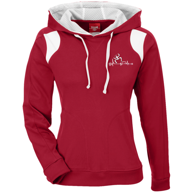 Coqui Heartbeat Ladies' Colorblock Poly Hoodie