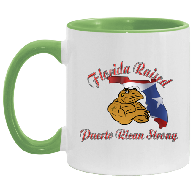 Florida Raised PR Strong 11OZ Accent Mug