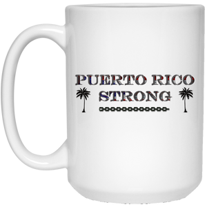 PR Strong 15 oz. White Mug