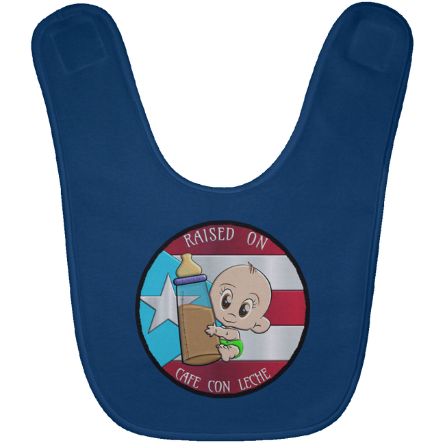 RAISED ON CAFE Baby Bib