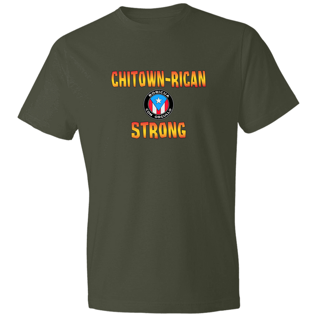 Chitown Rican Strong Lightweight T-Shirt 4.5 oz