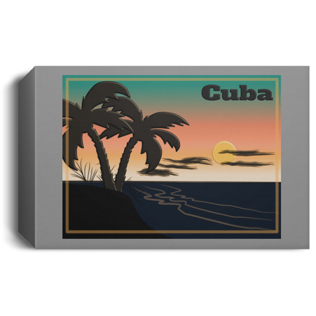 Cuba Deluxe Landscape Canvas 1.5in Frame