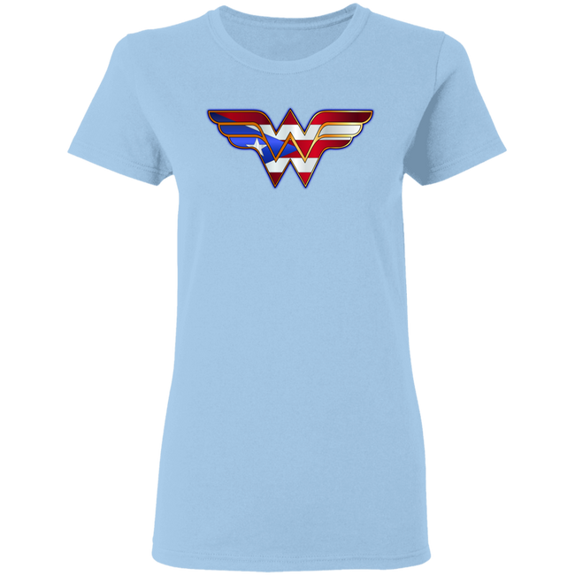 Boricua Wonder Woman 3 Ladies' 5.3 oz. T-Shirt - Puerto Rican Pride
