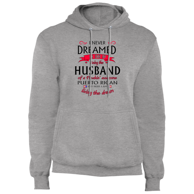 Husband of Awesome PR Core Fleece Pullover Hoodie - Puerto Rican Pride